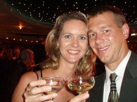 Happy author on honeymoon