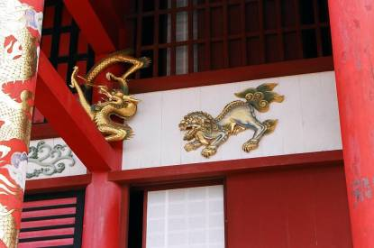 Dragon and Shi-sa at Shuri Castle