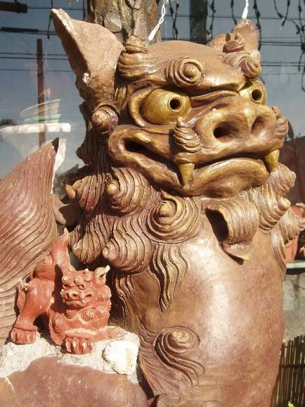 okinawa big little shisas terracotta